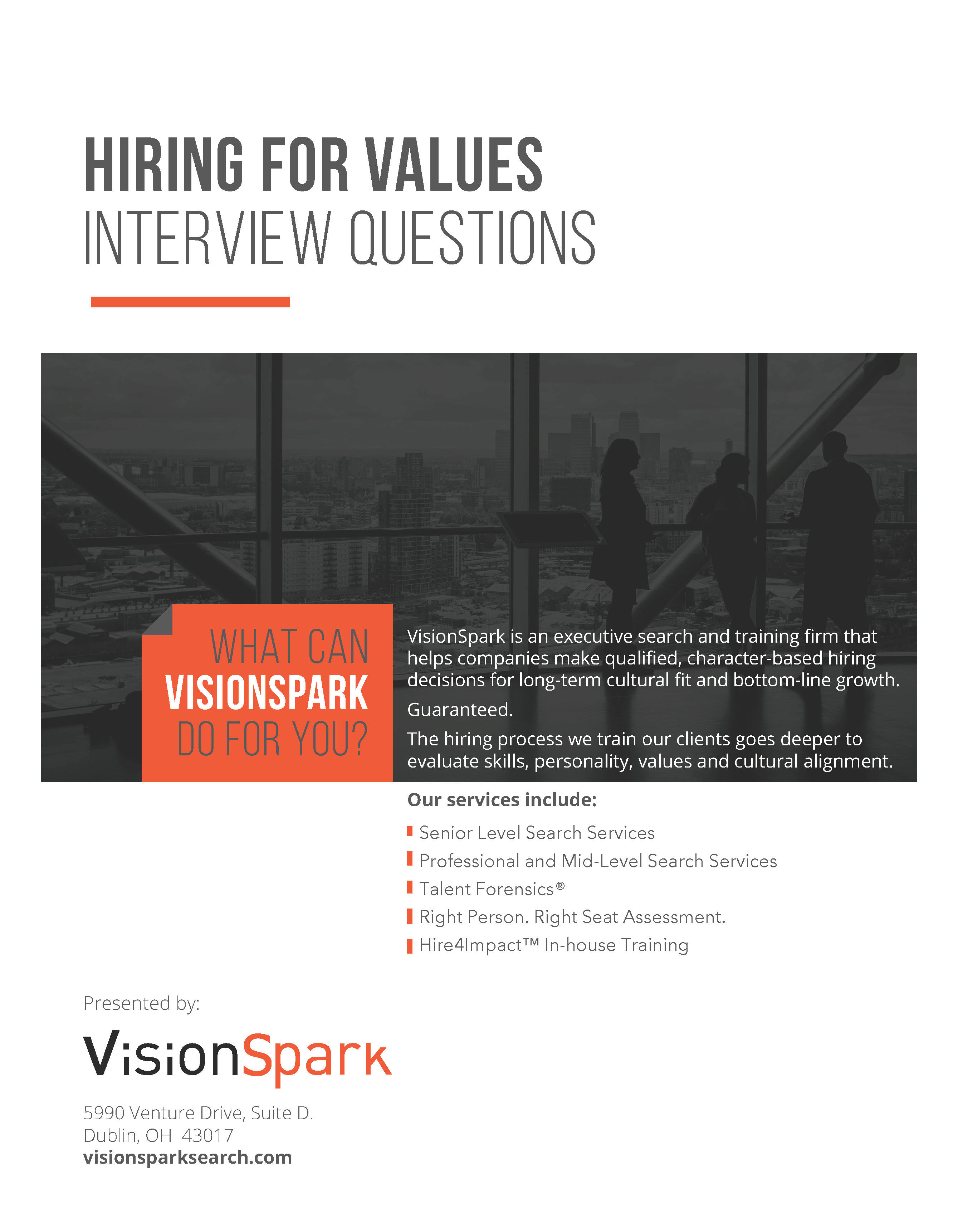 Hiring for success resources - Interview for values