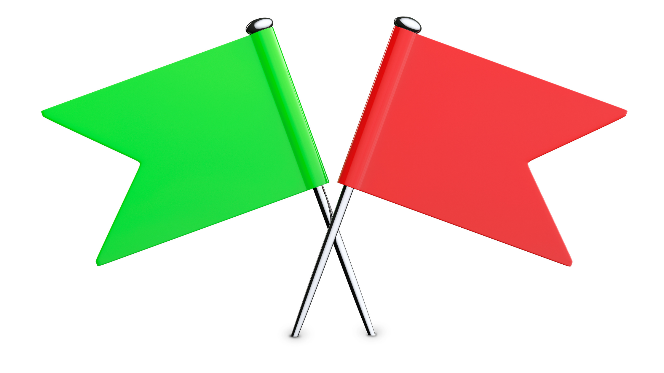 red flags and green flags